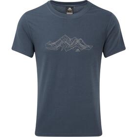 Mountain Equipment Groundup Mountain Tee Men Denim Blue